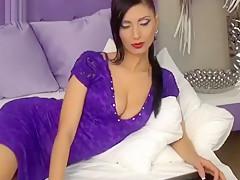 Brunette Daennerys took off dress and masturbates