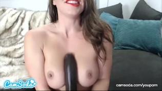 Abigail Mac big ass brunette fucking huge Black dildo – wet pussy.